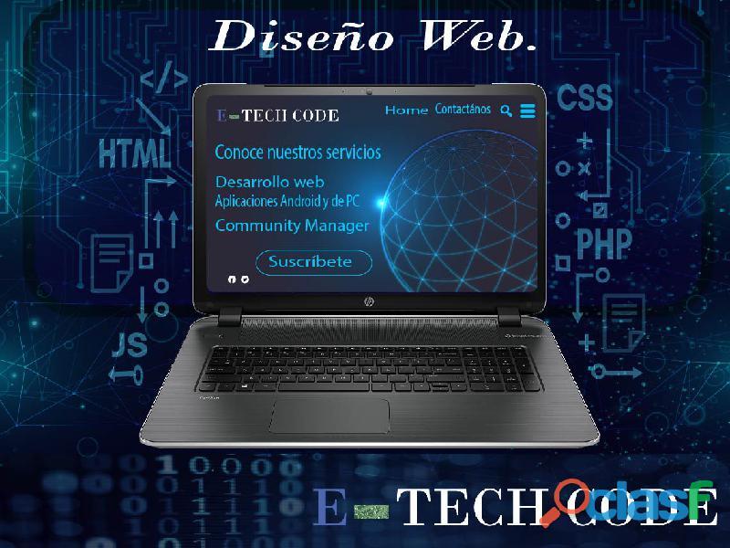 Desarrollo y diseño de páginas web.