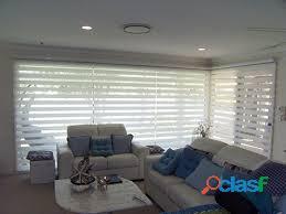 Persianas, cortinas manuales y motorizadas, toldos para jardín, piso laminado y deck para exteriores