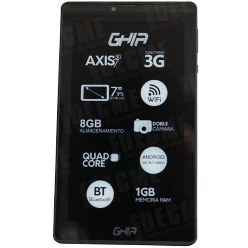 Tablet 7 pulgadas ghia 1gb 8gb 2mpx wifi android 8.1 chip 3g