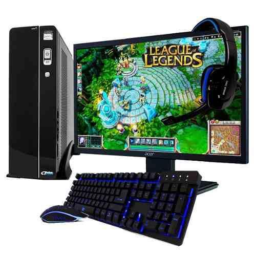 Pc gamer xtreme amd a10 8gb 1tb radeon 7620 monitor led 19.5