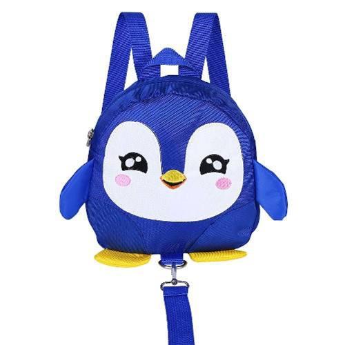 Arnés seguridad niñas con correa mochila pinguino azul