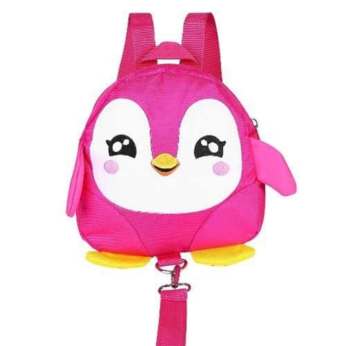 Arnés seguridad niñas con correa mochila pinguino rosa