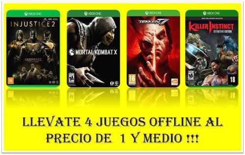 Injustice 2 legendary edition + 3 juegos xbox one offline