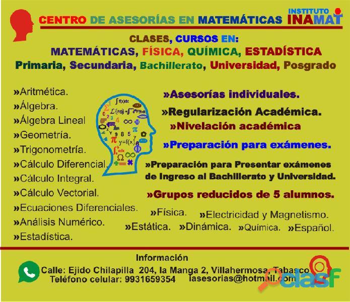 Asesorias de matematicas