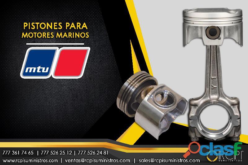 Pistones y refacciones para motores marinos MTU