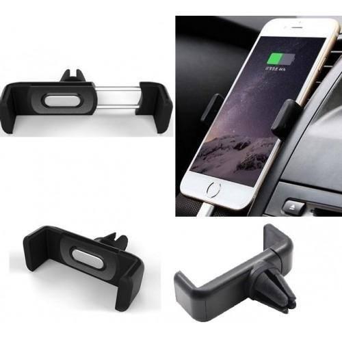 Soporte holder celular auto rejilla aire acondicionado carro