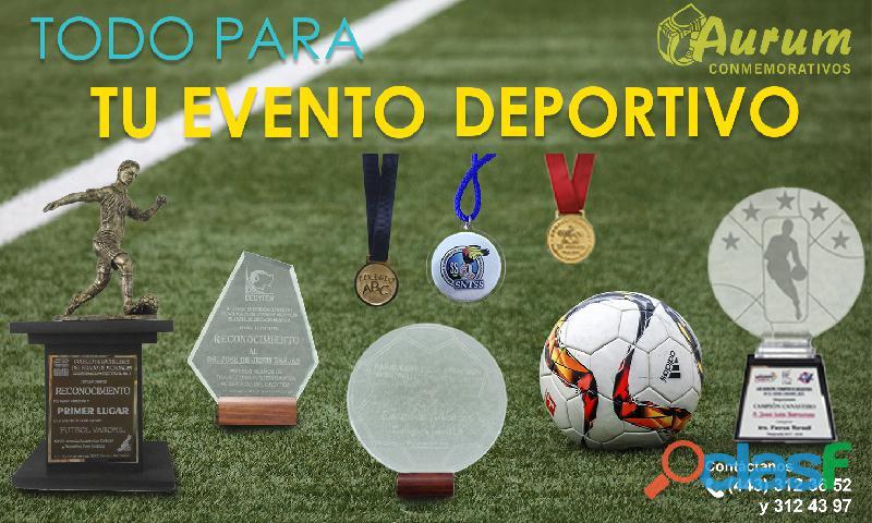 Medallas conmemorativas personalizadas y trofeos deportivos