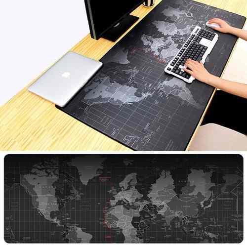 Mouse Pad Gamer Grande Patrón Mapa 30x80 Cm