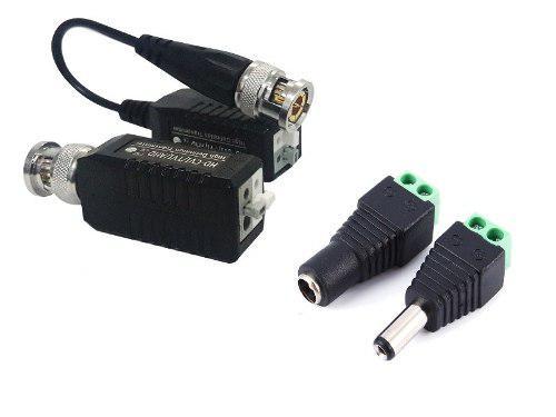 Paquete transceptores/balluns y energía para 1 cámara cctv