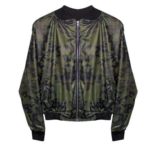último descuento obtener nueva productos de calidad Chamarra Bomber Jacket Camuflaje Militar Rojo - Verde Cierre
