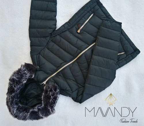 Chamarra chaqueta abrigo mujer invierno moda casual 00045
