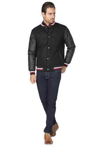 Chamarra hombre bomber gamusa piel sintetica casual vestir