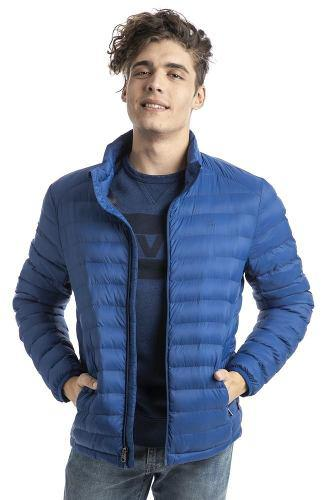 Chamarra levi's® hombre azul packable puffer new royal