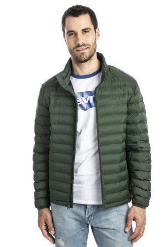 Chamarra levi's® hombre verde packable puffer hunter green