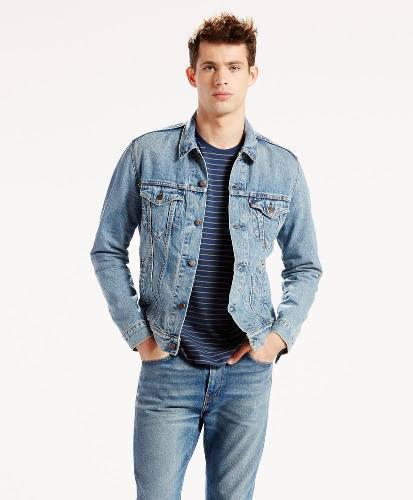 Levi's® hombre chamarra the trucker jacket icy azul
