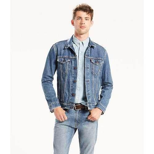 Levi's® hombre chamarra the trucker jacket the shelf azul