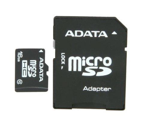 Adata ausdh16guicl10-ra1, memoria micro sdhc 16 gb c/adaptad