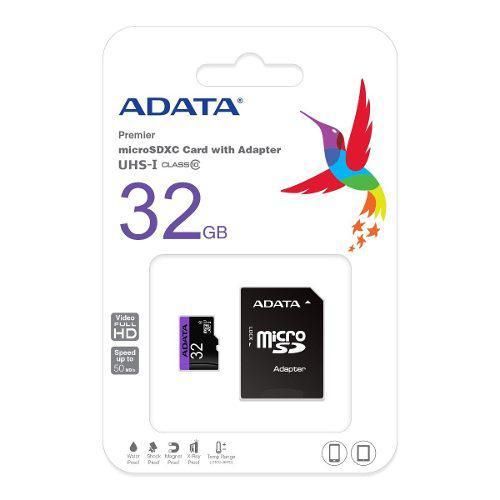 Adata memoria micro sd 32gb clase 4 celulares camara tablet