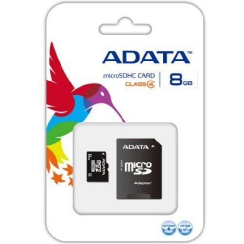 Adata memoria micro sd 8gb clase 4 celulares camaras tablet