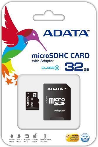 Adata memoria micro sd hc 32gb clase 4 celulares 4mb/s