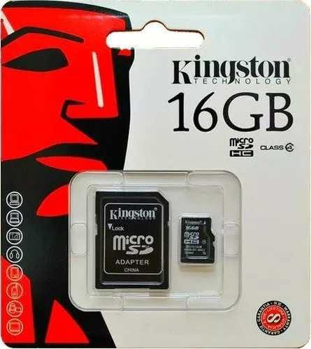 Lote 10 memorias micro sd kingston 16gb para celular