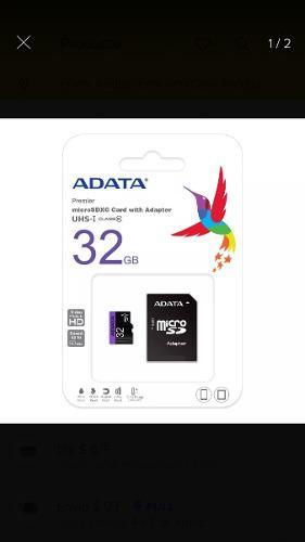 Memoria adata 32gb micro sd clase 10 u1