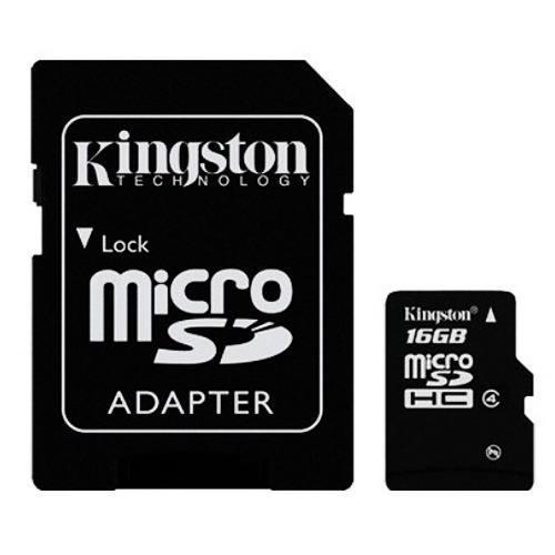 Memoria micro sd 16gb + adaptador sd kingston clase 10