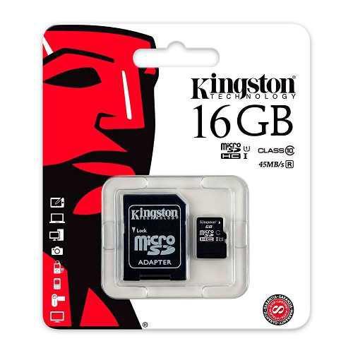 Memoria Micro Sd 16gb Kingston Mayoreo Clase 10 Full