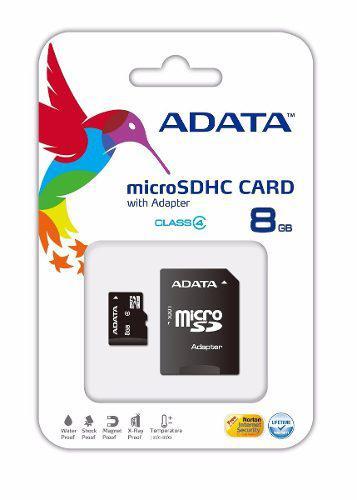 Memoria micro sd 8gb adata clase 4 tablet celular camara