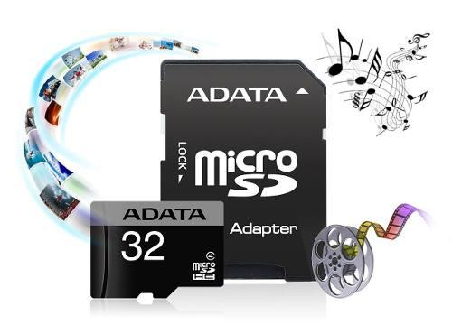 Memoria micro sdhc class 4 de 32 gb con adaptador