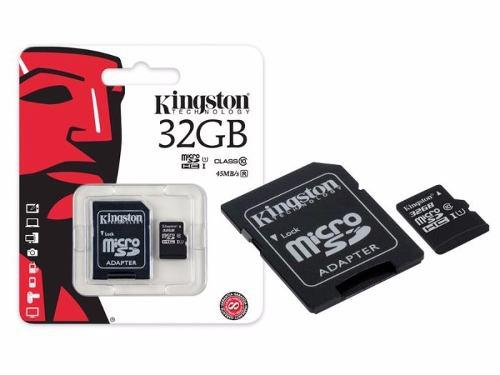 Memoria sd micro sd clase 10 32gb kingston