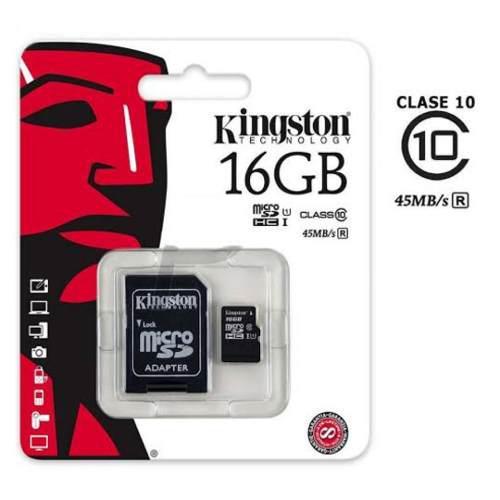 Micro sd 16 gb (clase 10) canvas select + adaptador usb