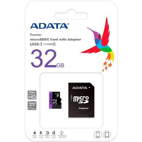 Micro sd clase 10 32 gb adata con adaptador envío gratis
