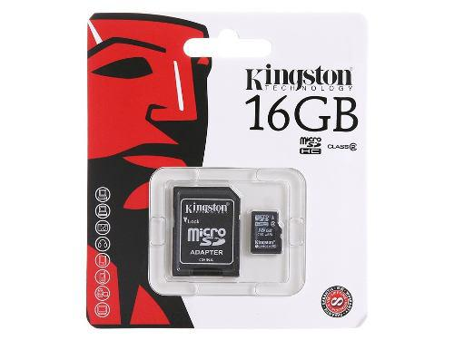 Micro sd de 16gb kingston nueva original