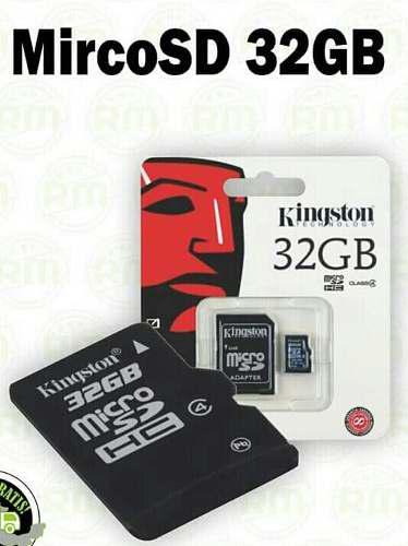 Micro sd de 32 gb. kingston con adaptador