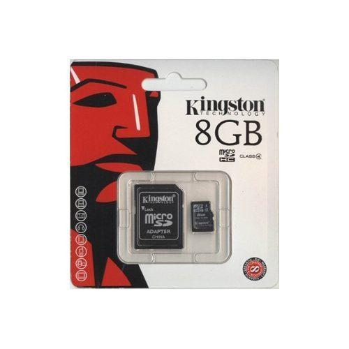 Micro sd kingston 8gb cls4 memoria con blister mic8kingst