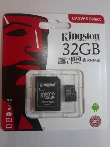 Micro sdhc 32gb kingston msd clase 10