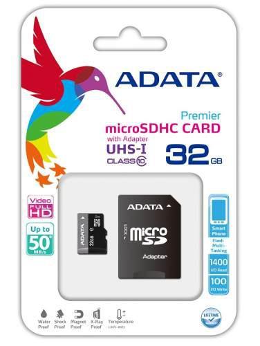 Microsd 32gb adata clase 10