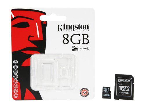 Paquete 10 (diez) micro sd 8gb clase 4 kingston original