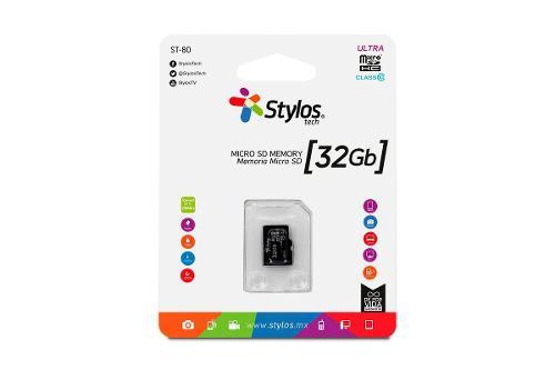 Stylos memoria micro sd 32gb clase 10 celular tablet mayoreo