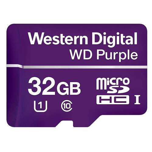 Tarjeta memoria micro sd 32gb wd purple p/video vigilancia