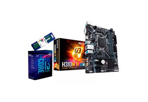 Kit de actualización intel core i3 8100 ram 8gb mother kit2