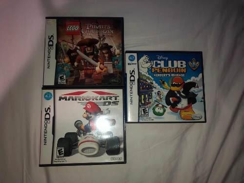 Nintendo ds xl con 3 juegos