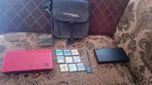 Nintendo dsi xl+ds+9 juegos y estuche