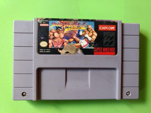 2 videojuegos street fighter 2 turbo super nintendo snes