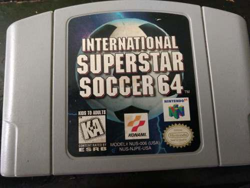 International super star soccer 64 videojuego cartucho