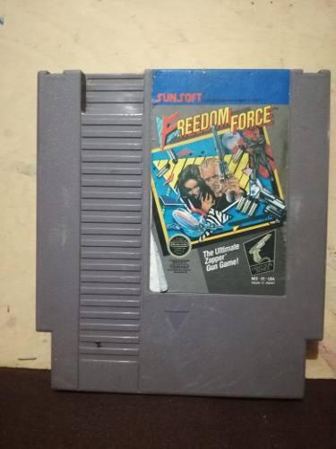 Juegos nintendo nes freedom force, cartucho, videojuegos