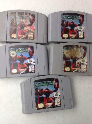Lote 5 juegos cartuchos starfox nintendo 64