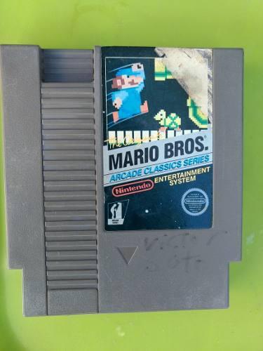 Mario bros arcade classics nintendo nes videojuego
