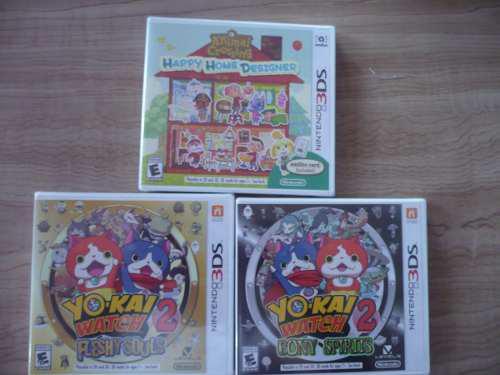 Nintendo 3ds juegos nuevos pokemon, mario maker, yokai,